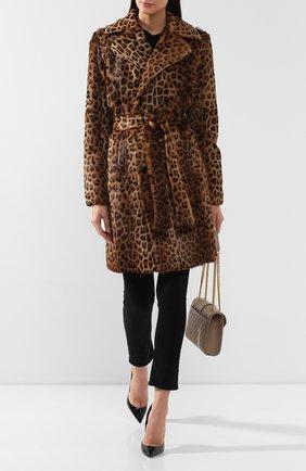 Двубортное меховое пальто | Фото №2