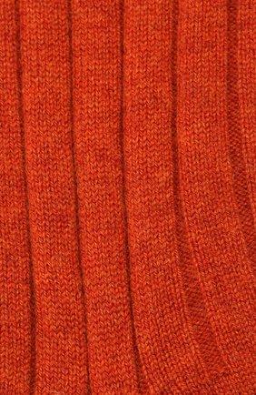 Женские кашемировые носки LORO PIANA оранжевого цвета, арт. FAF8553 | Фото 2