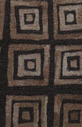 Мужской шелковый шарф KITON коричневого цвета, арт. USCIACX02S60 | Фото 2