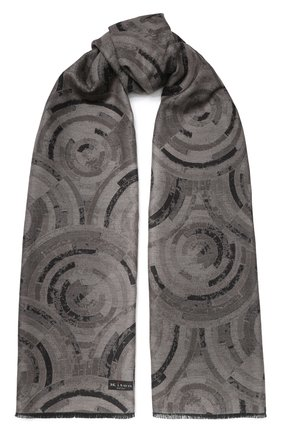 Мужской шелковый шарф KITON коричневого цвета, арт. USCIACX02S60 | Фото 1