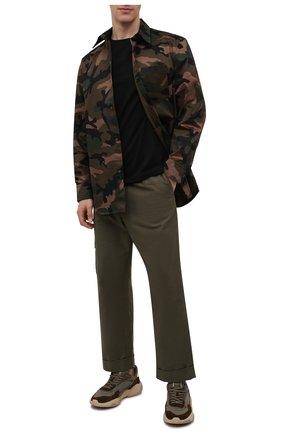 Мужская хлопковая футболка BURBERRY черного цвета, арт. 8014020 | Фото 2