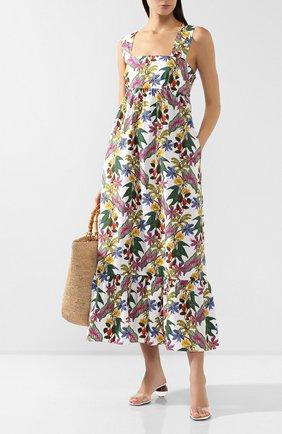 Женское хлопковое платье BORGO DE NOR разноцветного цвета, арт. MILA/THREE LINER | Фото 2
