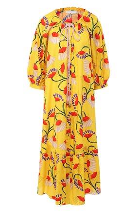Женское хлопковое платье BORGO DE NOR желтого цвета, арт. NATALIA/N0UVEAU LIPS | Фото 1