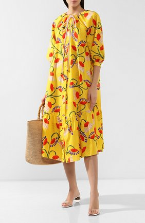 Женское хлопковое платье BORGO DE NOR желтого цвета, арт. NATALIA/N0UVEAU LIPS | Фото 2