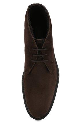 Мужские замшевые ботинки TOD'S темно-коричневого цвета, арт. XXM45A00D82RE0   Фото 5