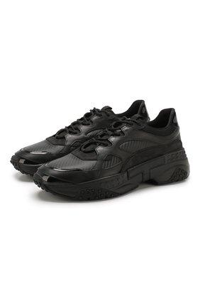 Мужские кожаные кроссовки TOD'S черного цвета, арт. XXM57B0BL40LZK | Фото 1