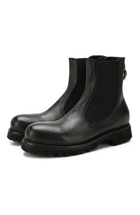 Мужские кожаные челси ROCCO P. черного цвета, арт. 9011/R0CK DEER | Фото 1
