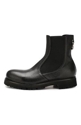 Мужские кожаные челси ROCCO P. черного цвета, арт. 9011/R0CK DEER   Фото 3