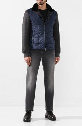 Мужские джинсы ANDREA CAMPAGNA серого цвета, арт. AC302/T28.W143 | Фото 2