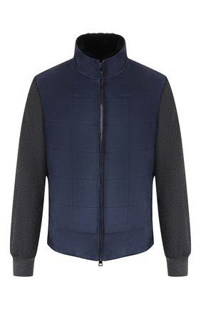 Мужская замшевая куртка ANDREA CAMPAGNA темно-синего цвета, арт. 19U108-T0LCNL1   Фото 1
