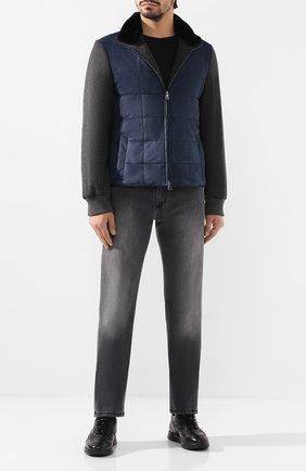 Мужская замшевая куртка ANDREA CAMPAGNA темно-синего цвета, арт. 19U108-T0LCNL1   Фото 2