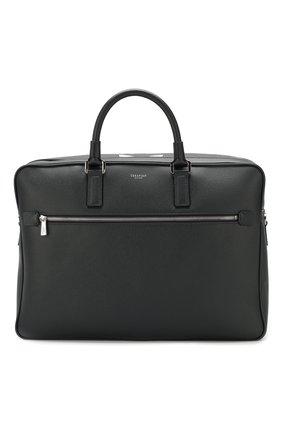 Мужская кожаная сумка для ноутбука SERAPIAN темно-синего цвета, арт. SEV0LMLL5969M40D | Фото 1