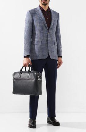 Мужская кожаная сумка для ноутбука SERAPIAN темно-синего цвета, арт. SEV0LMLL5969M40D | Фото 2