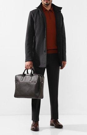 Мужская кожаная сумка для ноутбука SERAPIAN темно-коричневого цвета, арт. SEV0LMLL5969M40D | Фото 2