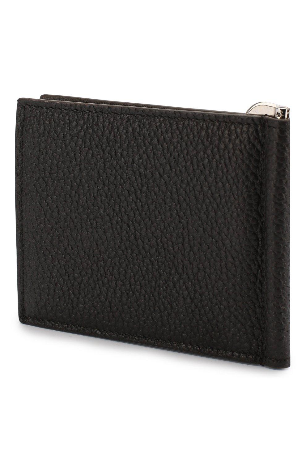 Мужской кожаный зажим для денег BRIONI темно-коричневого цвета, арт. 0HSG0L/04702 | Фото 2