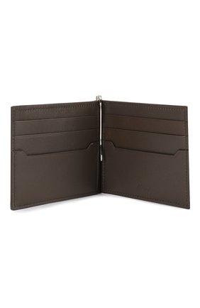 Мужской кожаный зажим для денег BRIONI темно-коричневого цвета, арт. 0HSG0L/04702 | Фото 3