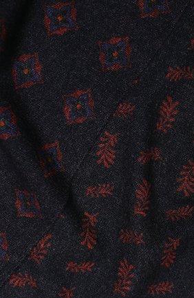 Мужской шерстяной шарф ALTEA темно-синего цвета, арт. 1960045   Фото 2