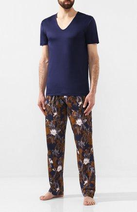 Мужские хлопковая футболка ZIMMERLI темно-синего цвета, арт. 286-1442 | Фото 2