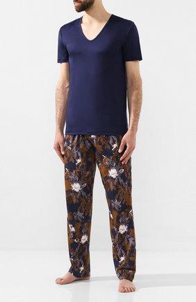 Мужские хлопковые домашние брюки ZIMMERLI темно-синего цвета, арт. 4739-75180 | Фото 2