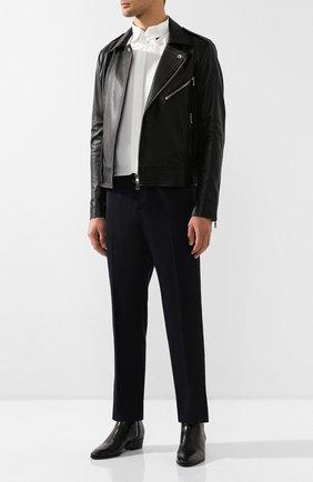 Мужской шерстяные брюки TRIPLE RRR черного цвета, арт. FW20 P012 3010 | Фото 2