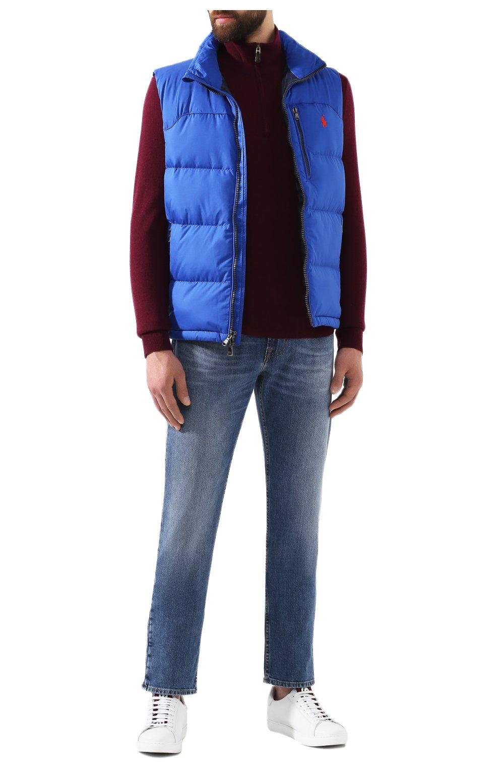Мужской шерстяной джемпер POLO RALPH LAUREN бордового цвета, арт. 710723053 | Фото 2