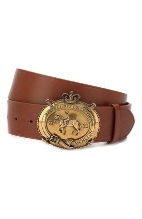 Мужской кожаный ремень RALPH LAUREN темно-коричневого цвета, арт. 404761817 | Фото 1