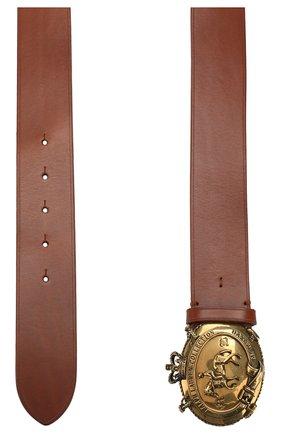 Мужской кожаный ремень RALPH LAUREN темно-коричневого цвета, арт. 404761817 | Фото 2