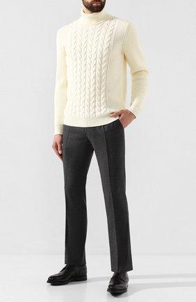 Мужской шерстяные брюки BERWICH темно-серого цвета, арт. SC/1ALC/MZ1853X | Фото 2