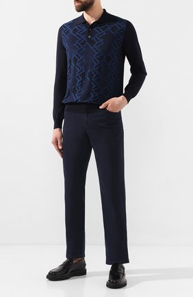 Мужские джинсы ZILLI темно-синего цвета, арт. MCS-00050-PECH1/R001   Фото 2
