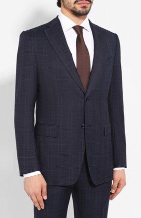 Мужской шерстяной костюм ZILLI темно-синего цвета, арт. MMS-QN22Y2-B6510/0002 | Фото 2