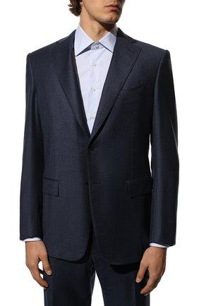 Мужской шерстяной костюм ZILLI синего цвета, арт. MMS-QN22Y2-B6547/0002 | Фото 2