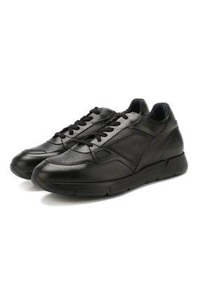 Мужские кожаные кроссовки ANDREA CAMPAGNA черного цвета, арт. 302010.228.94 | Фото 1