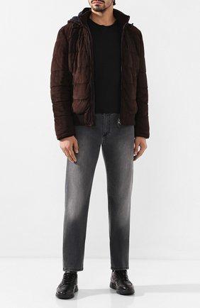 Мужские кожаные кроссовки ANDREA CAMPAGNA черного цвета, арт. 302010.228.94 | Фото 2