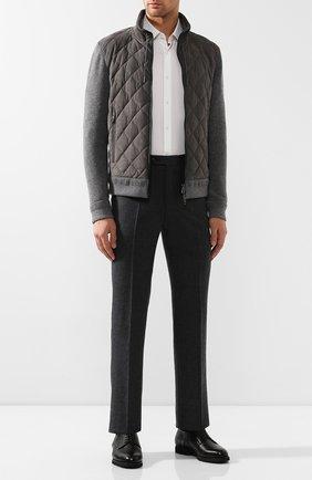 Мужской кожаные дерби ANDREA CAMPAGNA черного цвета, арт. 307021.221.150 | Фото 2