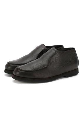 Мужские кожаные ботинки ANDREA CAMPAGNA темно-коричневого цвета, арт. 390001.91.140 | Фото 1
