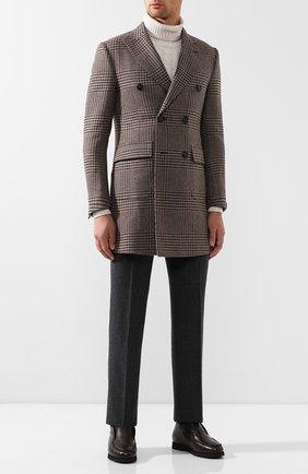 Мужские кожаные ботинки ANDREA CAMPAGNA темно-коричневого цвета, арт. 390001.91.140 | Фото 2