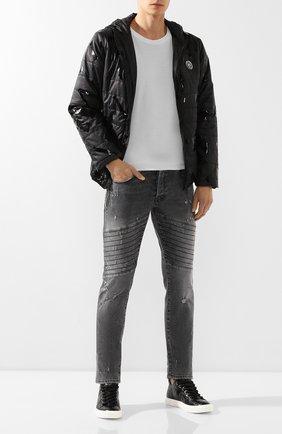 Мужские кожаные кеды blabber GIUSEPPE ZANOTTI DESIGN черного цвета, арт. RU90028/002 | Фото 2