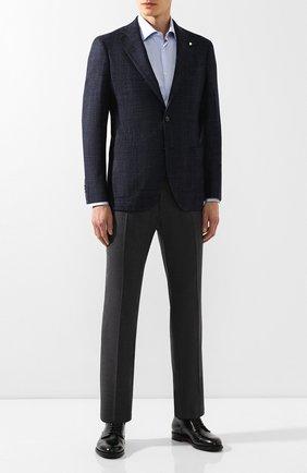 Мужской шерстяной пиджак L.B.M. 1911 темно-синего цвета, арт. 2403/92032 | Фото 2