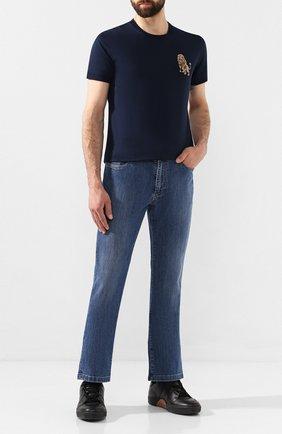 Мужские джинсы BILLIONAIRE синего цвета, арт. MDT1704 | Фото 2