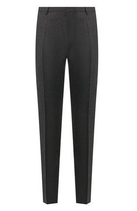Мужской шерстяные брюки BOSS темно-серого цвета, арт. 50404495   Фото 1