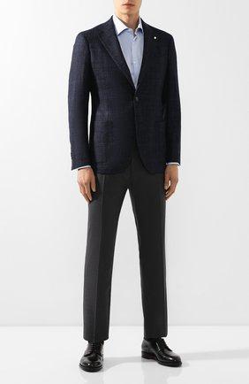 Мужской шерстяные брюки BOSS темно-серого цвета, арт. 50404495   Фото 2