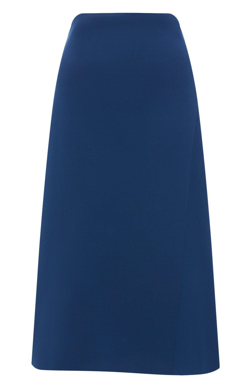 Женская юбка-миди BOSS синего цвета, арт. 50414831 | Фото 1