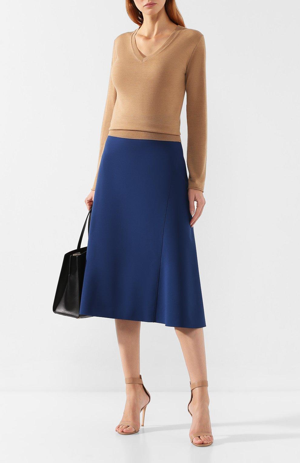 Женская юбка-миди BOSS синего цвета, арт. 50414831 | Фото 2