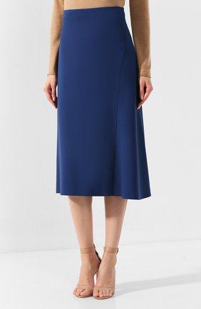 Женская юбка-миди BOSS синего цвета, арт. 50414831 | Фото 3