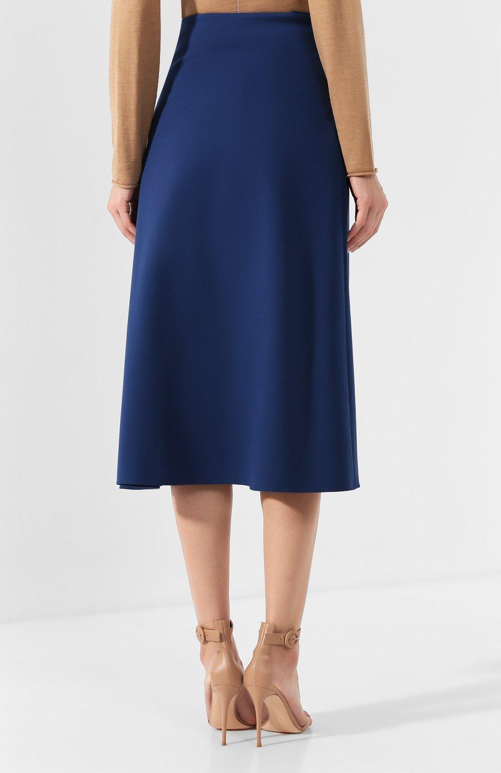 Женская юбка-миди BOSS синего цвета, арт. 50414831 | Фото 4