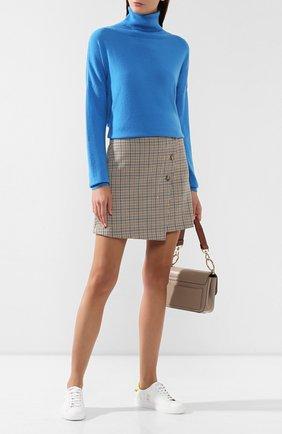 Женская кашемировый свитер TAK.ORI синего цвета, арт. SWK50006WS100AW19 | Фото 2