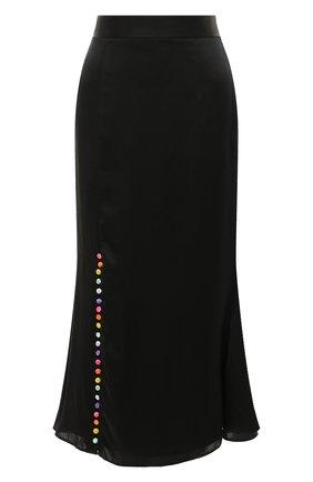 Женская шелковая юбка OLIVIA RUBIN черного цвета, арт. 0R0078/HANNA SLIP SKIRT | Фото 1