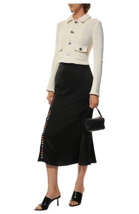 Женская шелковая юбка OLIVIA RUBIN черного цвета, арт. 0R0078/HANNA SLIP SKIRT | Фото 2