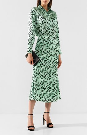 Женская юбка OLIVIA RUBIN светло-зеленого цвета, арт. 0R0079/HANNA SLIP SKIRT | Фото 2
