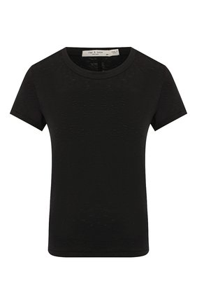 Женская хлопковая футболка RAG&BONE черного цвета, арт. W272C32CH   Фото 1